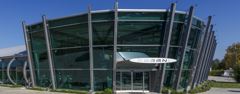Simeon constructed the building that houses the headquarters of carmaker Pagani in Modena.